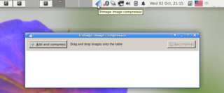 Screenshots of package trimage