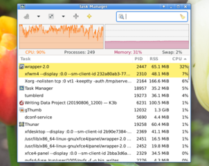 process manager for the Xfce4 Desktop Environment