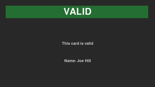 Tool to scan membership cards to establish if they are valid