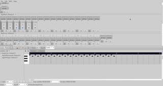 GSequencer main window and notation editor screenshot
