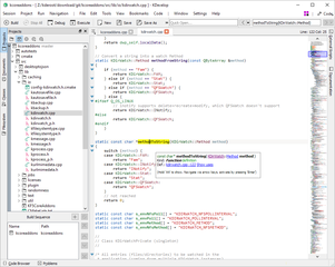 Screenshots of package kdevelop