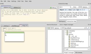 Screenshots of package pyzo