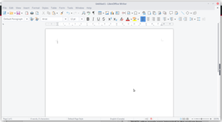 Blank document in libreoffice writer on Debian Testing