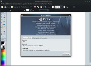 Screenshots of package pinta