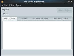 Screenshots of package gdebi