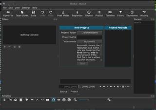 Screenshots of package shotcut