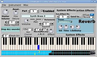 Screenshots of package zynaddsubfx