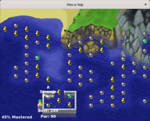 Screenshots of package hex-a-hop