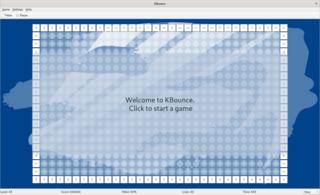Screenshots of package kbounce
