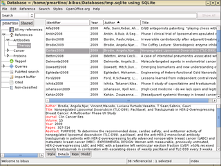 Screenshots of package bibus