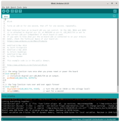 Main window of the Arduino IDE.