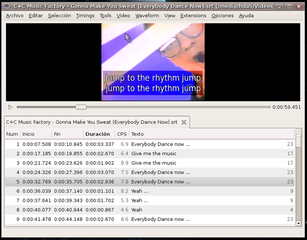 Screenshots of package subtitleeditor