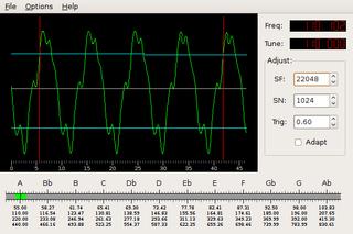 Screenshots of package gtkguitune