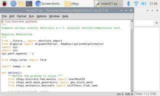 Screenshots of package python3-sfepy