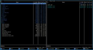 Screenshots of package mc