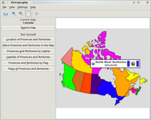 Screenshots of package kgeography