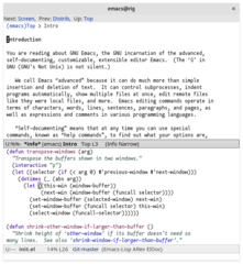 Screenshots of package emacs