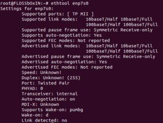 Screenshots of package ethtool