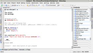 Screenshots of package kdevelop