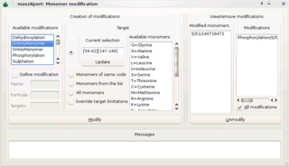 Screenshots of package massxpert
