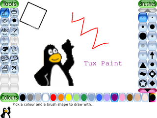 Screenshots of package tuxpaint