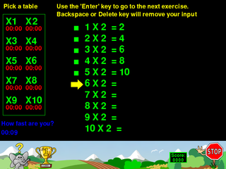 Screenshots of package childsplay
