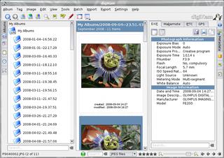 Screenshots of package digikam