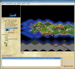 Screenshots of package freeciv-client-gtk