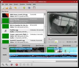 Screenshots of package pitivi