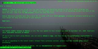 Screenshots of package links