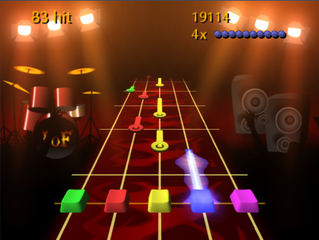 Screenshots of package fretsonfire