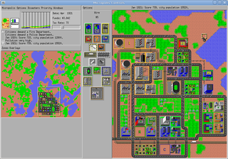 Screenshots of package micropolis