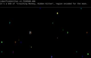 Screenshots of package robotfindskitten