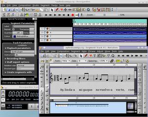 Screenshots of package rosegarden