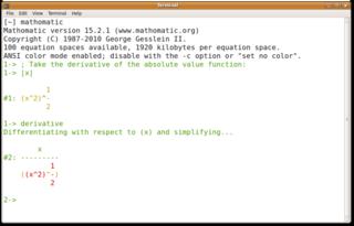 Screenshots of package mathomatic