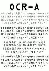 Screenshots of package ttf-ocr-a