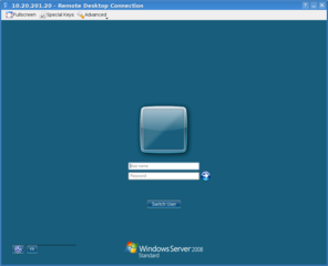 Screenshots of package krdc