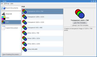 Screenshots of package krita