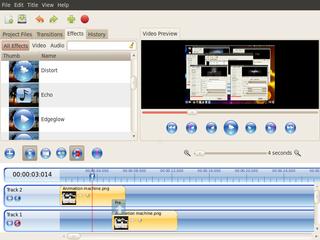 Screenshots of package openshot