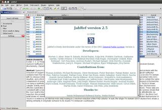 Screenshots of package jabref
