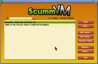 Screenshots of package scummvm