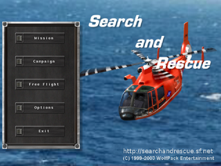 Screenshots of package searchandrescue