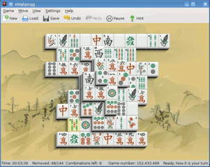 Screenshots of package kmahjongg