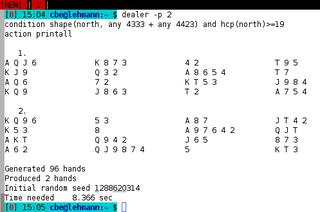 Screenshots of package dealer