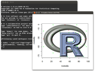 Screenshots of package r-base