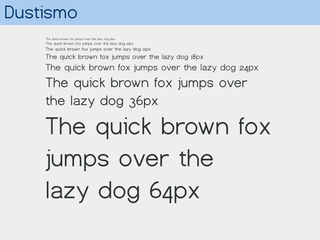 Screenshots of package ttf-dustin