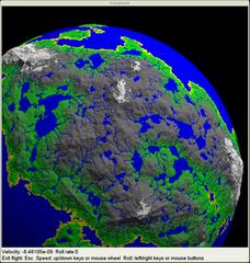 Screenshots of package fracplanet