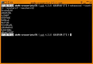 Screenshots of package makepasswd
