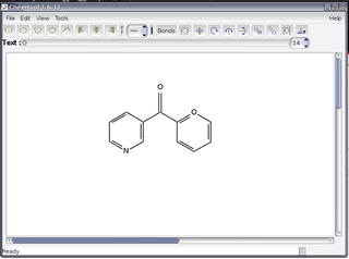 Screenshots of package chemtool