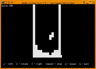 Screenshots of package bsdgames